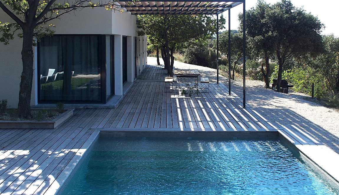 Gîte Drôme vignoble extérieur piscine