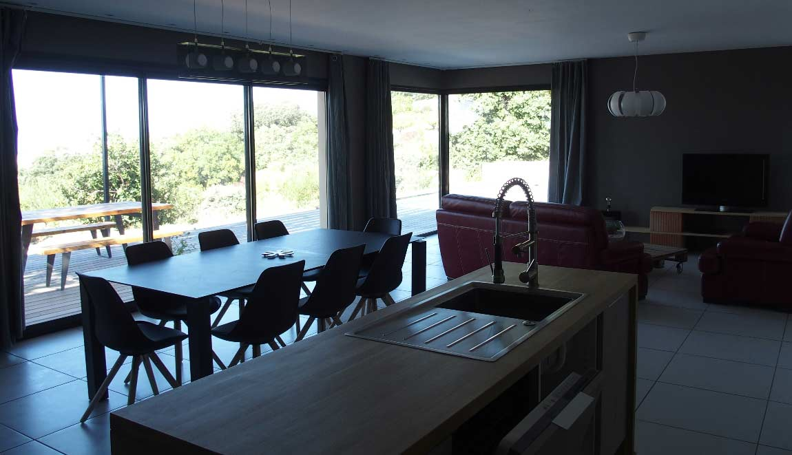 Gîte Drôme vignoble salon