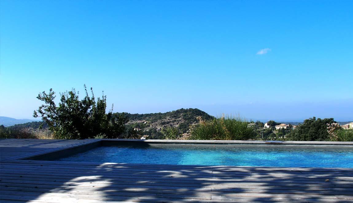 Gîte Drôme vignoble piscine et paysage